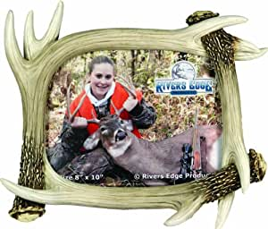 River's Edge Realistic Looking Antler Photo Frame, 4 X 6- Inch