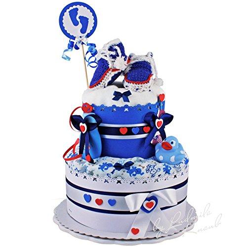 Gteau-de-couches-Sport-Loft-pour-Baby-Boy-3-couleur-argile-BleuBlancRougeCadeau-Original-et-Pratique-avec-berraschungseffektCadeau-pour-la-naissance-baptme-baby-shower