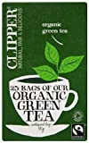 Clipper Fairtrade Organic Green 25 Teabags (Pack of 6, Total 150 Teabags)