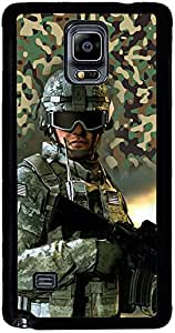 PrintVisa 2D-SGN4-D8139 Fighter Commando Case Cover for Samsung Galaxy Note 4