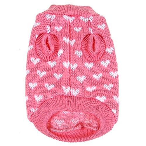 Knitting Pattern Jumper With Heart : PanDaDa Puppy Dog Little Heart Pattern Knit Sweater Coat ...
