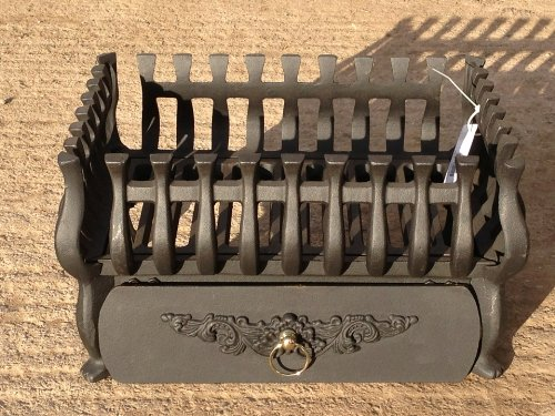 Stovax Small Cast Iron Spanish Fire Basket Grate Ashpan and front