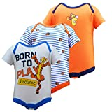 Disney Winnie The Pooh Infant Boys Tigger Born To Play & Bounce Bodysuit 3 Pack