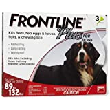 Frontline DFRXLGPLUS 3-Pack 89 to 132-Pound Plus Dogs Flea and Tick Treatment, X-Large, Red