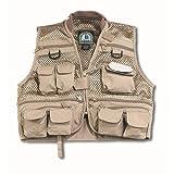 Master Sportsman Youth Mesh Fishing Vest (Khaki) Large