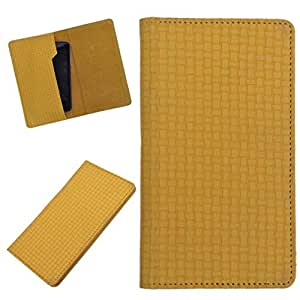 DCR Pu Leather case cover for HTC Desire SV (yellow)