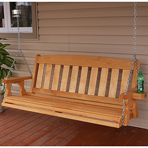 Amish Made Mission 4ft Treated Porch Swing With
