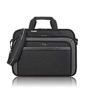 Solo Sterling Collection Laptop Portfolio, Check-Fast Airport Security-Friendly Case for Notebook Computer up to 17 Inches, Black (CLA314-4)