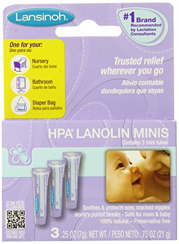 Lansinoh HPA Lanolin Minis, .25 Ounce, 3 Count