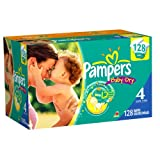 Pampers Baby Dry Diapers Value Pack, Size 4, 128 Count