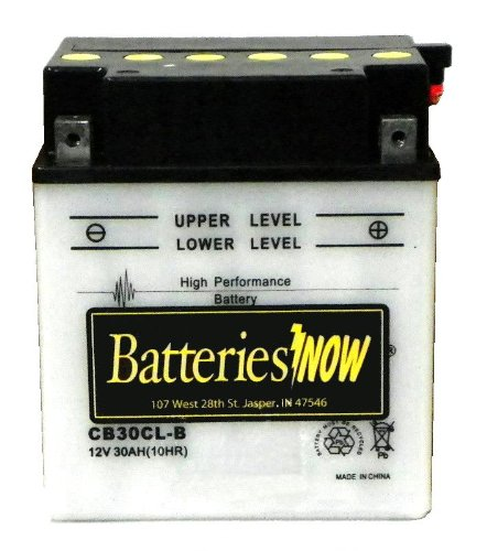 Power-Sonic CB30CL-B Conventional Powersport Battery
