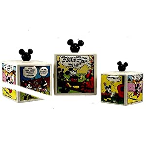 canisters set 3pc canister mickey mouse