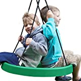 Super Spinner® Swing, FUN! Easy Install for Swing Set or Tree, Best Swing on the Planet! (Green)
