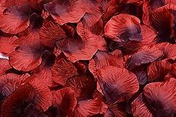 Calcifer®100 Pack (about 10000 pcs) High Quality Silk Rose Petals Artificial Flower Petals For Wedding Decoration (24.Red+Black)