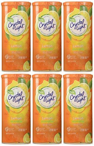 Crystal Light Lemon Decaf Iced Tea Natural Flavor Drink Mix, 12-Quart Canister (Pack of 6) (Crystal Light Tea Lemon compare prices)