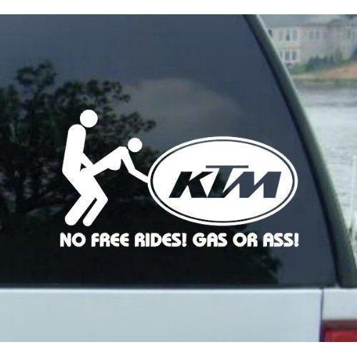 Ktm 7 white vinyl sticker decal carstrucks