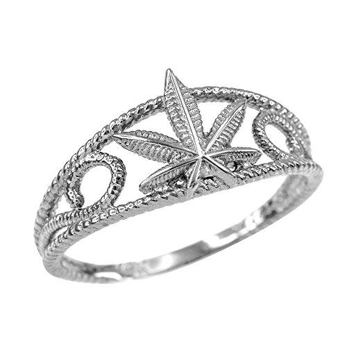 damen-ring-sterling-silber-texturierte-filigree-marihuanablatt