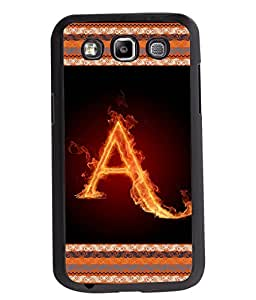 Fuson 2D Printed Alphabet A Designer back case cover for Samsung Galaxy Quattro / Win - D4189