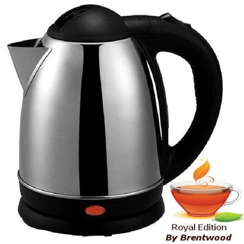 Royal 1.2 Liter Stainless Steel Cordless Electric Hot Water Tea Kettle - Boil Water Fast & Easy!