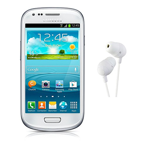 Samsung Galaxy S3 Mini Gt-I8200 Factory Unlocked International Version (White) With Jvc Hafx32W Marshmallow Earbuds (White)