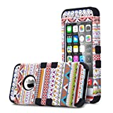 iPhone 5S case, ULAK Apple iPhone 5/5S Case 3in1 Fashion Dream Blog Series Shockproof Combo Hard PC and Soft Silicone Hybrid Cover for 5S with Stylus and Screen Protector (Purple Blog-Black)