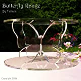 """10"""" Wedding Cake Stand or Cake Separator - Butterfly Theme"""