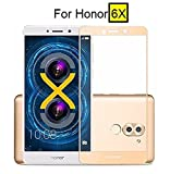 #4: Dashmesh Shopping Tempered Glass Screen Protector Full Cover Edge-to-Edge(Gold) for Honor 6X
