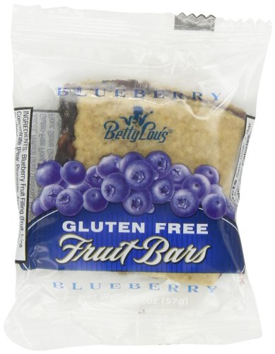 Betty Lou'S Blueberry Fruit Bar Gluten Free, 12 - 2 Oz Bars