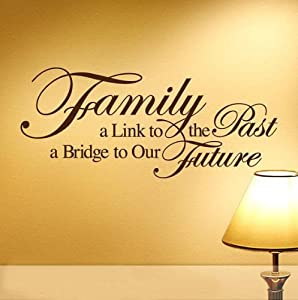 Family Wall Quote Stickers Mural Decal Paper Art Decoration from Tianhong