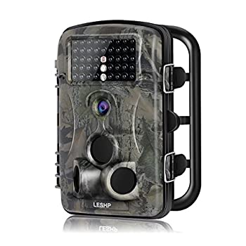 Hunting Trail Camera, Elepawl Wildlife Game Camera 12MP 1080P HD No Glow with Time Lapse 65ft 120°Wide Angle Infrared Night Vision 42pcs IR LEDs 2.4