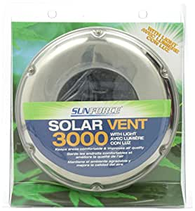 Sunforce 81300 Stainless Steel Solar Vent