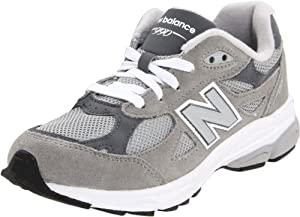 New Balance KJ990 Lace-Up Running Shoe (Little Kid/Big Kid),Grey,5 W US Big Kid