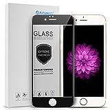 Arbalest iPhone6/6s フィルム ブルーライトカット 3Dタッチ対応 3D曲面 薄型 日本板硝子ガラス 硬度9H 0.26mm PET ソフトフレーム 強化ガラスフィルム 全面 黒