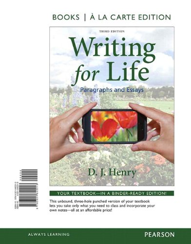 Writing for Life: Paragraphs and Essays, Books a la Carte Plus MyWritingLab with eText -- Access Card Package (3rd Editi