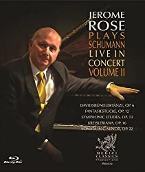 Jerome Rose Plays Schumann Live in Concert II [Blu-ray]
