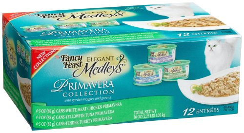 Fancy Feast Elegant Medleys for Cats, Primavera Collection, 3-Ounce Cans (Pack of 24)