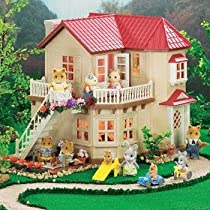 Calico Critters Deluxe Cloverleaf Corners Town House, includes lights that turn on/off