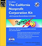 The California Nonprofit Corporation Kit with CDROM (0873376412) by Anthony Mancuso