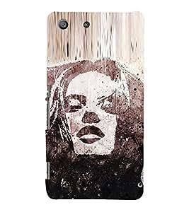 Portrait of a Girl 3D Hard Polycarbonate Designer Back Case Cover for Sony Xperia M5 Dual :: Sony Xperia M5 E5633 E5643 E5663