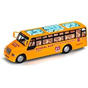 Yellow School Bus Toy, Battery Operated, Bump And Go Action, With Lights And Sounds. ...