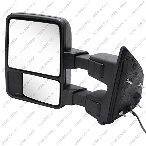 Scitoo Driver Side Mirror Black Manual Led Smoke Signal Lights For 2008-2016 Ford F250 F350 F450 F550 Super Duty Truck Towing Mirror (2014 F250 Tow Mirrors compare prices)