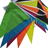 Material Polyester Multi Coloured Buntings Banner 10 Metre Long 20 Flags Pennant Double Sided Indoor & Outdoor Party Decoration By DEAL SHEAL