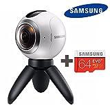 SAMSUNG 三星 サムスン ギア Gear 360度 VR カメラ(SM-C200) + Micro SD 64GB, 球状 Camera for Galaxy S6, S6 edge, S6 edge+, Note5, S7, S7 ed...