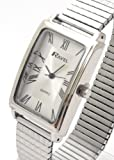 Mens/Gents Silver Roman Numerals Expanding/Expander/Expansion Bracelet Band Watch (R0303.07.1)