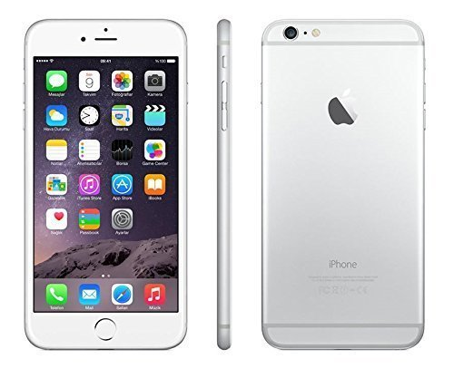 Apple discount duty free Apple iPhone 6 Plus 128GB Unlocked GSM 4G LTE Smartphone - Silver (Certified Refurbished)