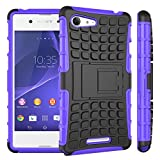 Sony Xperia E3 - Stylish Heavy Duty Shock Proof Dual Case Cover with Back Stand & Screen Protector