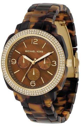 Michael Kors Boyfriend Gold &Tortoise Shell Acrylic Ladies Watch Mk5086