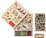 Martha Stewart Crafts 49-60343 Peppermint Winter Wooden Stamp Kit