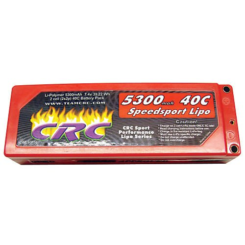 7.4 V 5300mAh 40C Lipo Battery w/ Bullet Connector