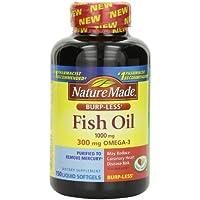 Nature Made Burp-less Fish Oil 1000mg 150-Count Liquid Softgels